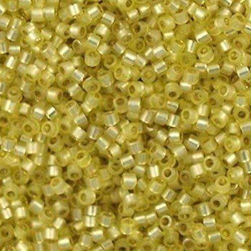 MIYUKI Delica Beads 110 DB-623 20grams Silver Lined Light Yellow Alabaster