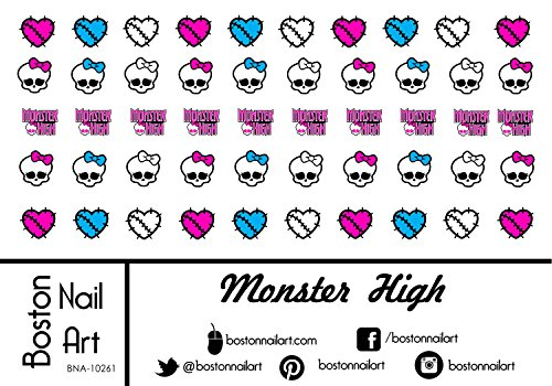 Monster Nail High (Monster High - Waterslide Nail Decals - 50pc)