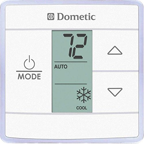 Lcd Controls - Dometic RV Air Conditioner Single Zone LCD Thermostat and Control Kit Polar White