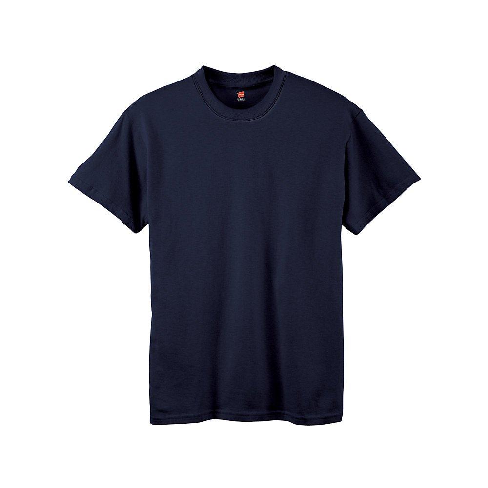 Hanes by Boys' Tagless ComfortSoft Crewneck T-Shirt_Navy_XS