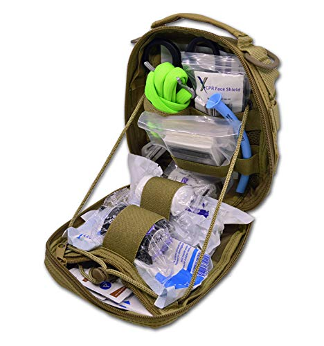 (Lightning X Individual First Aid Trauma/Hemorrhage Control Kit in MOLLE IFAK Pouch Value Edition -)