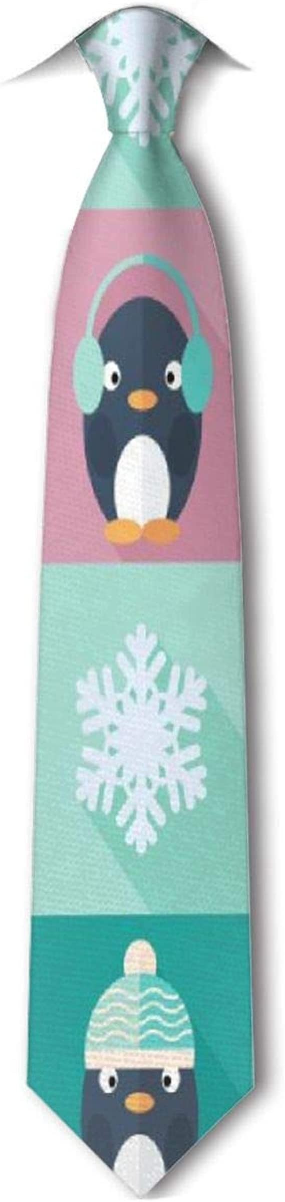 Xukmefat Pingüinos y copos de nieve infantiles Corbata de hombre ...