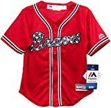 Atlanta Braves Alternate Red Cool Base Toddler and Child Jersey