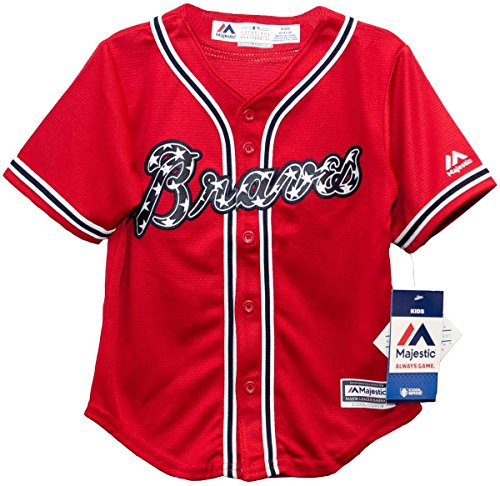Majestic Athletic Atlanta Braves Alternate Red Cool Base Infant Jersey (18 Months) - Majestic Sporting Goods