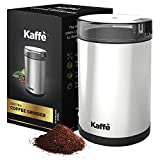 KF2020 Electric Coffee Grinder by Kaffe - Stainless Steel 2.5oz Capacity with Easy On/Off Button