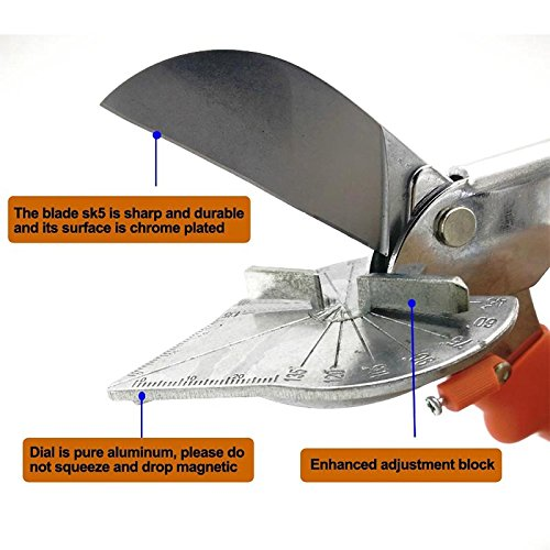 Cikuso 45 Grad 90 Grad Kante Kartenkante Winkelschere//Multifunktions Winkelschere//Drahtschlitzschneider