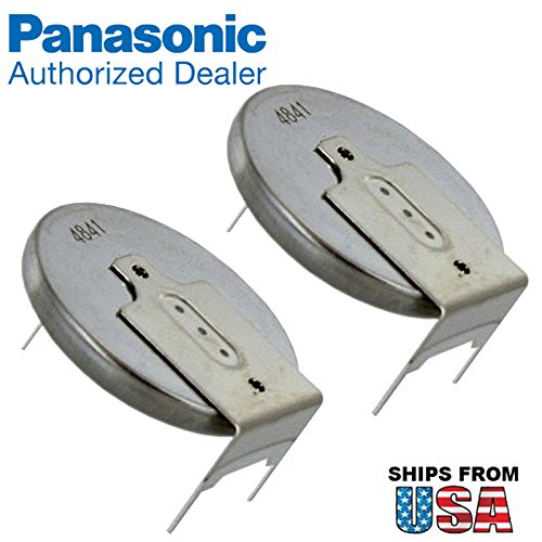 (2X Panasonic CR-2032/GUN 3V Lithium Coin Battery Horz 3 Pins Tab for IBM CMOS Battery Part Numbers: 12J1695, 02K6572, 12J1671, CMOS Battery CR2032/S7F IBM ThinkPad R50, R52 A31P T20 )