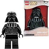 LEGO Star Wars Darth Vader Kids Minifigure Light Up Alarm Clock | black/gray | plastic | 9.5 inches tall | LCD display | boy girl | official