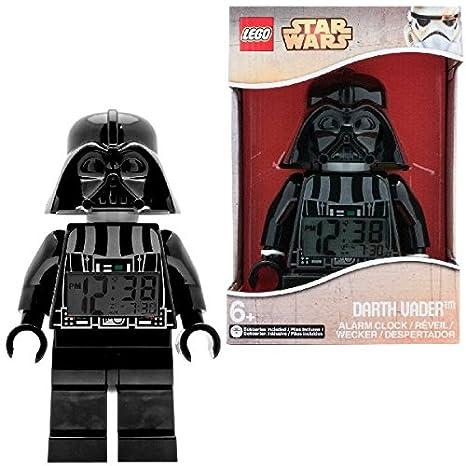 Despertador con luz infantil con figurita de Darth Vader de LEGO Star