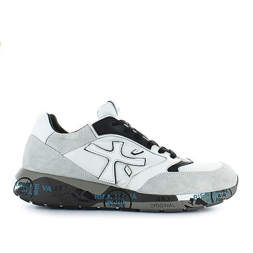 c900a68f6b PREMIATA Scarpe da Uomo Sneaker Zaczac 3548 Bianco Nero Autunno ...