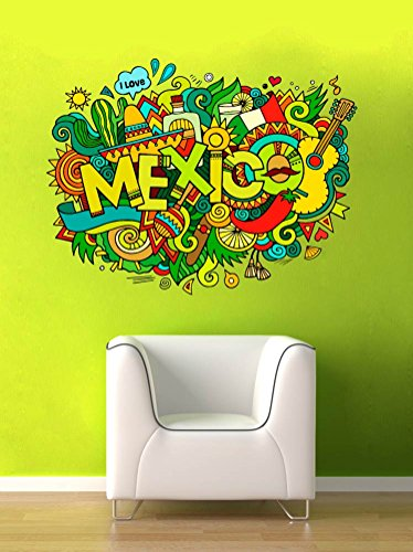 Mexico Wall Decal Vinyl Home Decoration - 32