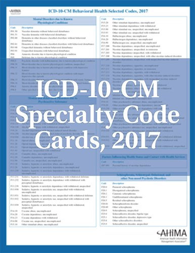 ICD-10-CM Pain Management Selected Codes, 2017