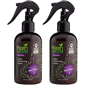 Fresh Wave Lavender Odor Eliminator Spray & Air Freshener, 8 fl. oz, Natural Ingredients (Pack of 2)