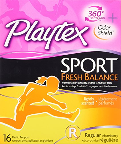 Playtex Sport Fresh Balance Tampons with Odor Shield Technology, Regular, Scented - 16 Count