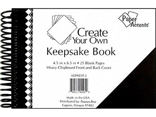 Accent Design Paper Accents 4.5x6.5 Black CYO KeepBook Blk Cvr