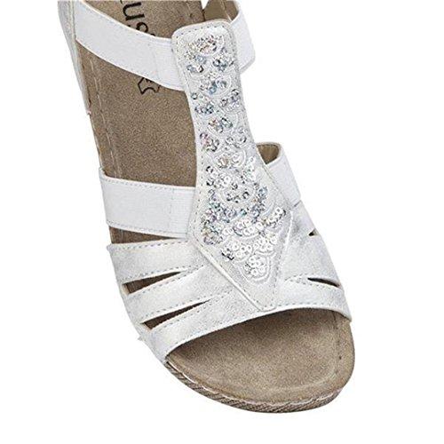 Lotus , Sandales pour femme blanc blanc