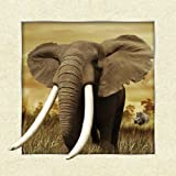 The 3D Art – African Elephant- Unbelievable Life Like 3D Art Pictures, Interactive Art Work! Lenticular Posters, Cool Art Deco, Unique Wall Art Decor, African Theme, Elephant