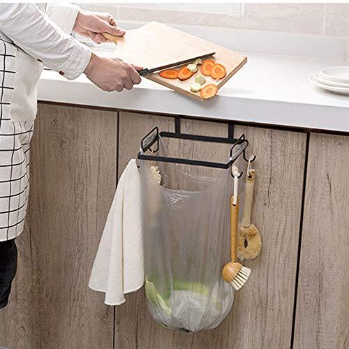Hot Sale!DEESEE(TM)Portable Kitchen Trash Bag Holder Cabinets Cloth Rack Towel Rack (Black)