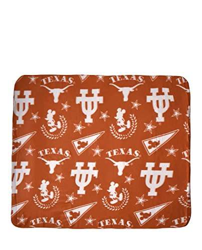 The Northwest Company NCAA Officially Licensed Mickey With Stars Fleece Throw Blanket (Texas Longhorns)