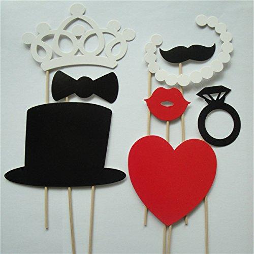 8pcs DIY Photo Booth Props Wedding Birthday Party Photo Props Mustache Masks // 8pcs fotomatón bricolaje apoyos de la fiesta de cumpleaños de la boda de la foto de los apoyos máscaras bigote (Fotos De Los compare prices)