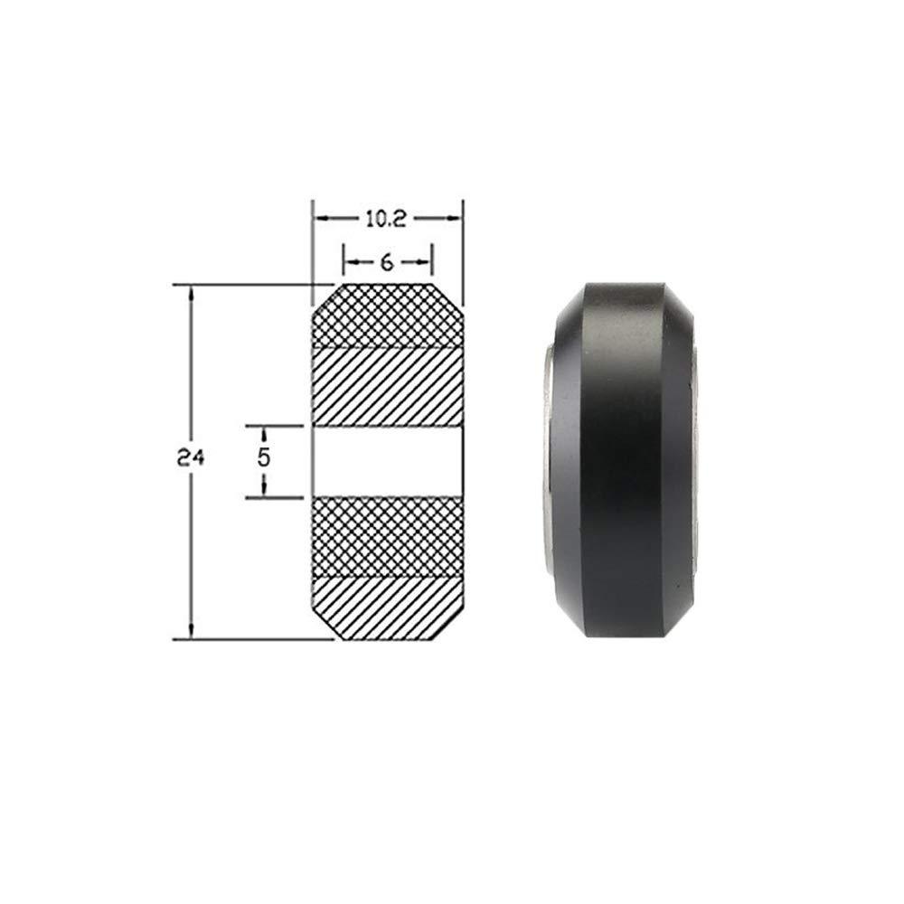 Redrex 3D Printer POM Wheel Plastic Pulley 625zz Linear Bearing for CR10//Ender 3 Series Chiron Pack of 10PCS Tevo Tarantula