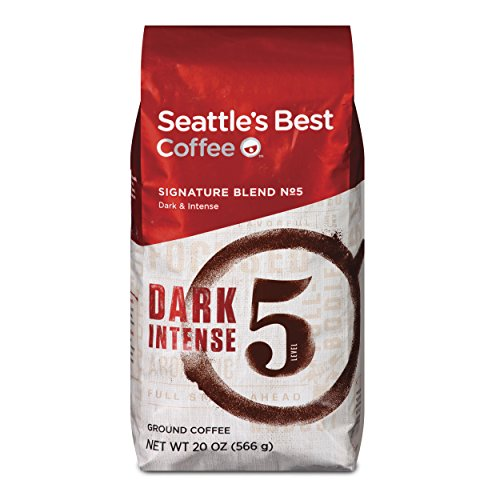 Seattles Best Blend Coffee (Seattle's Best Coffee Post Alley Blend (Previously Signature Blend No. 5) Dark Roast Ground Coffee, 20-Ounce Bag (Pack of 6))