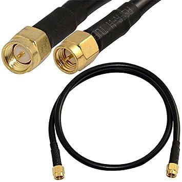 50 cm SMA macho a macho M/M – Cable alargador RF Cable Coaxial Pigtail