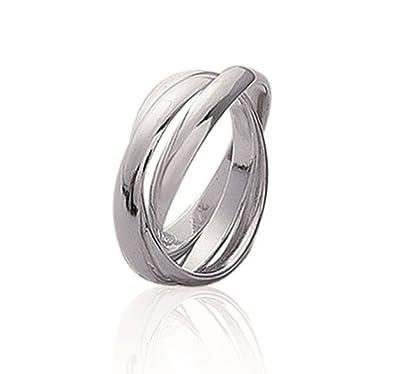 bellissimo a colori vendita scontata goditi il prezzo più basso Anello in argento 925/000, 3 anelli intrecciati, da donna ...