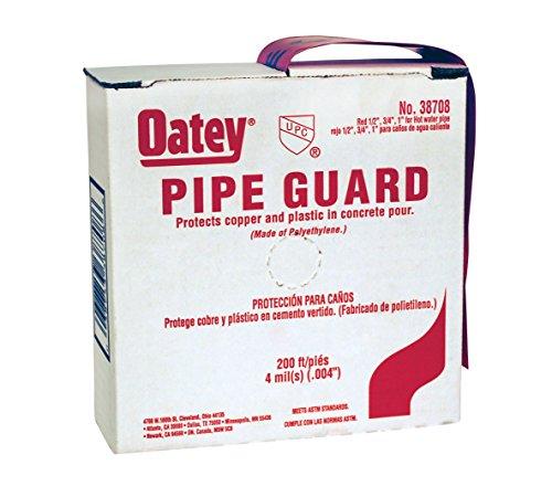 Oatey 38708 4 Mil-Pipe Guard, Red, 200-Feet per Carton 1/2-Inch, 3/4-Inch, 1-Inch