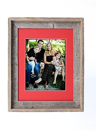BarnwoodUSA 11 by 14 Inch Signature Picture Frame for 8 by 10 Inch Photos - 100% Reclaimed Wood,