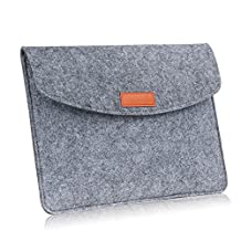 MoKo 9-10 Inch Sleeve Bag, Protective Felt Case Cover for iPad Pro 10.5, iPad 1 / 2 / 3 / 4, iPad Air / Air 2, All-New iPad 9.7 2017, Lenovo Tab 4 10, Samsung Galaxy Tab S3, Tab E 9.6 - Light Gray