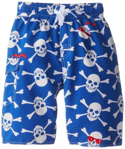 Wes & Willy Little Boys' Skull Sunglasses Swim Trunk Jr, Blue Jay, ()