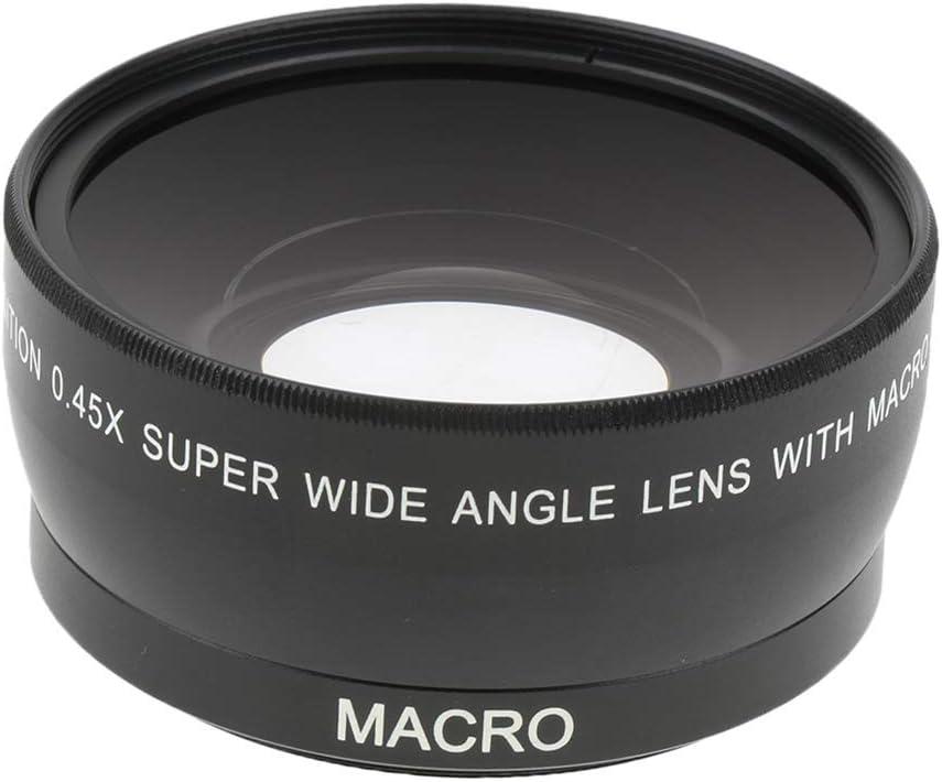 Baoblaze Objectif Macro et Grand-Angle 0,45x 55mm Pochette-Housse Noire pour Sony Canon Nikon