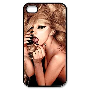 C-EUR Customized Print Lady Gaga Pattern Back Case for iPhone 4/4S