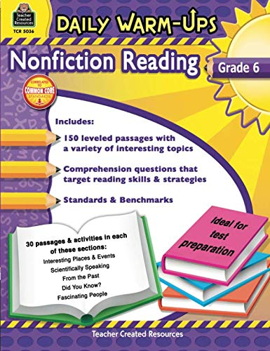 Daily Warm-Ups: Nonfiction Reading Grd -