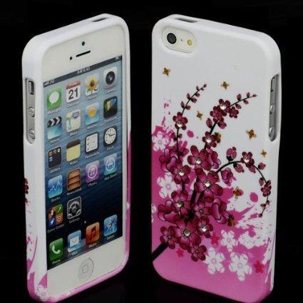 Silikon Blumen #1 Apple iPhone 5 5G Tasche SchutzhŸlle HŸlle Case TPU Cover Etui