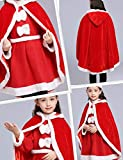 Little Red Riding Christmas Fur Princess Cape Hood