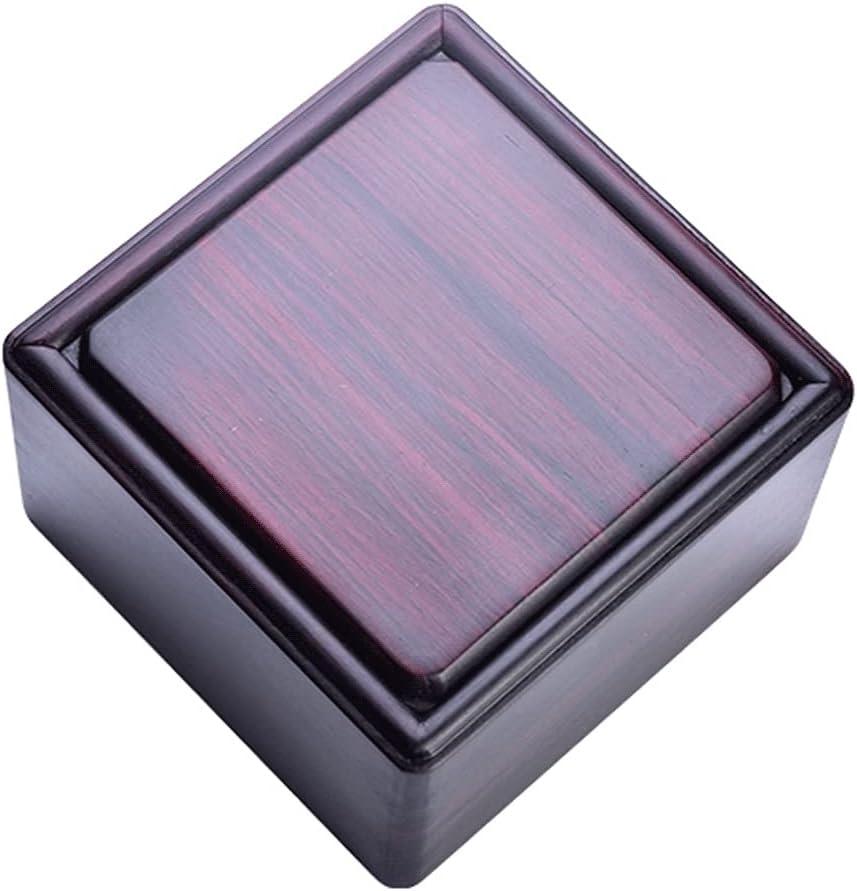 LTCTL Caja De Joyería De Palisandro Joyas Caja De Talismán Pequeño Anillo Antiguo/Pendientes/Collar Estuche De Organizador (Color : Square L)