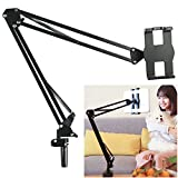 Benks Tablet Mount Lazy iPad Holder Universal Long Arm Mobile Phone Bracket, Flexible Gooseneck Clamp Stand for Live Stream, Desk, Bed, Kitchen, Office (Support 4-12.9 Inch Cell Phone and Tables)