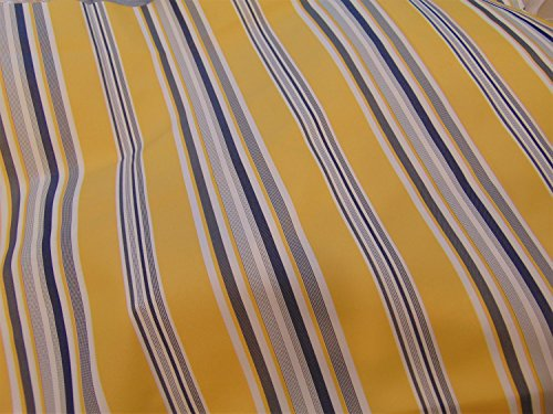 Outdoor Upholstery Stripe YELLOW Waterproof Canvas fabric 60