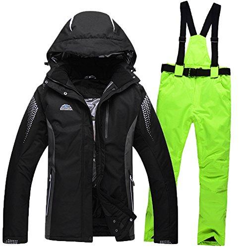 Windproof Suit Warm Waterproof Ski Jacket Women Zipper Black Coat Pants DYF Men JACKETS Green FYM P8RvnU4