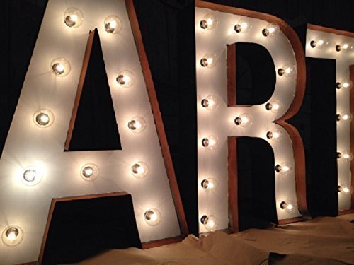 Rustic White Marquee Lighted Letters Custom Handmade - A-Z and 0-9 and all characters ()