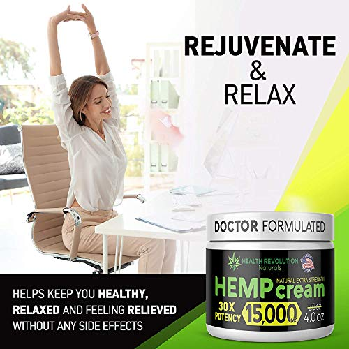 51Jh7 P2D5L - Extra Strength Hemp Cream for Pain Relief - Only 3rd Party Tested Product To Verify Strength/Results. All Natural for Nerve-Sciatic, Muscle, Back Pain & Inflammation, with Arnica, MSM, Emu, Turmeric