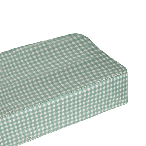 bkb Gingham Flat Changing Pad Cover, Green