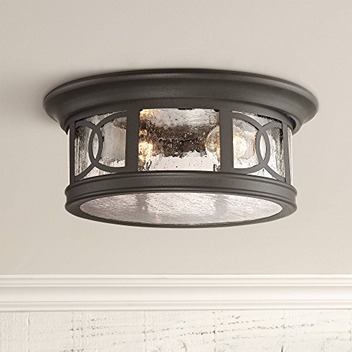 (Capistrano Outdoor Ceiling Light Fixture Black 12