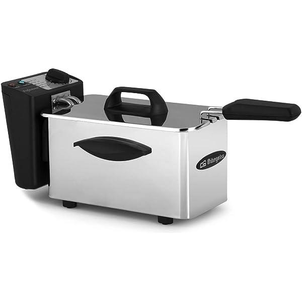 Family Care Freidora de 2 litros, desmontable, acero inoxidable, 2000 W, termostato ajustable hasta 190 ºC, piezas Fácil de Limpiar: Amazon.es: Hogar