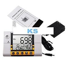 KOHSTAR 0-2000ppm Range Wall Mount Indoor Air Quality Temperature RH Carbon Dioxide CO2 Monitor Digital Meter Sensor Controller
