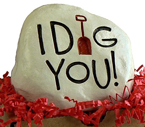 """""""I Dig You"""" – Engraved in a Heavy little Rock For Sale"""
