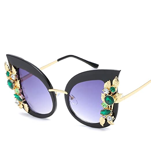 25b96ffb920b ENCOCO Unisex Cat Eye Sunglasses Diamond-studded Sunglasses at Amazon  Women s Clothing store