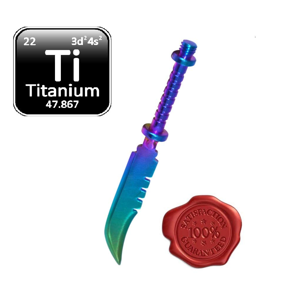 Wax Carving Titanium Tool - Pointed Edge Kit Phenomenal Multi Colored & Precise Multi Purpose Edges GR2 Straight Sword Type Tool Craft Jewelry Wax Carvers Natural Mystic USA Brand